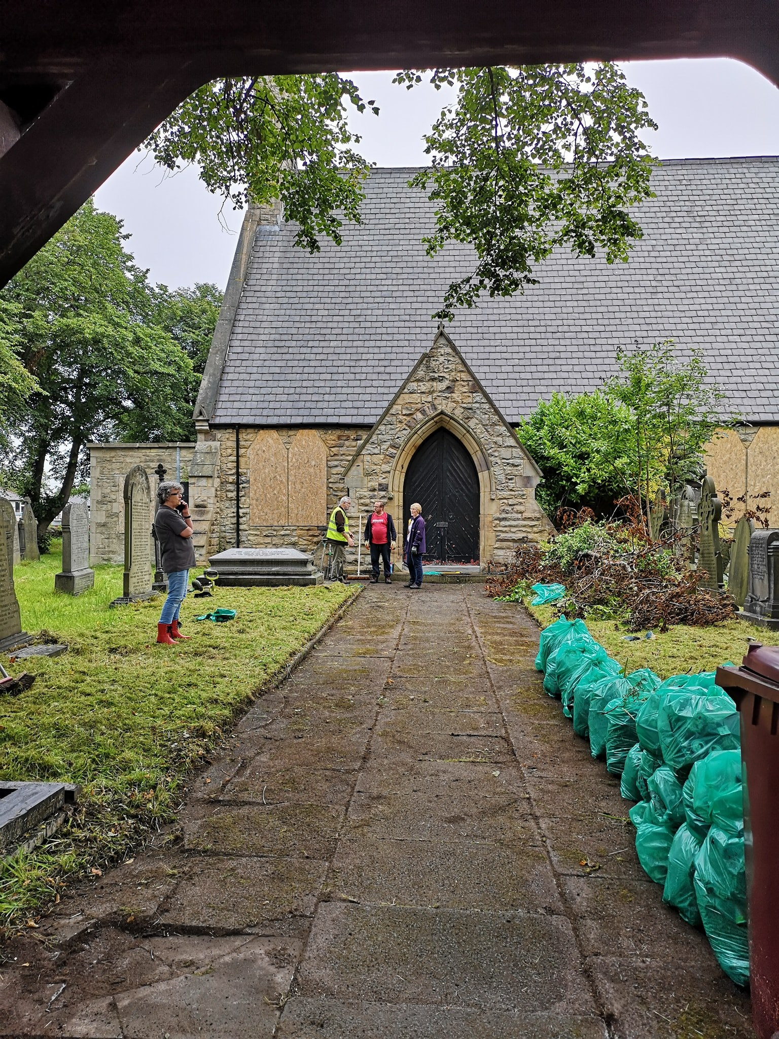 St James Church; restoring grounds