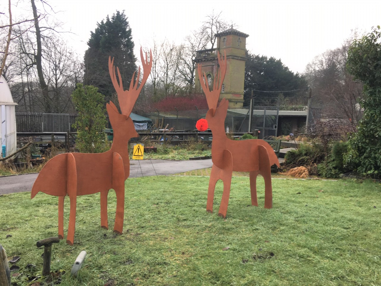 Seven Acres MIS make Santa's reindeer